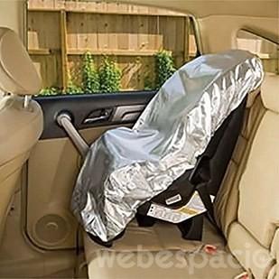 Asiento de auto con protección solar