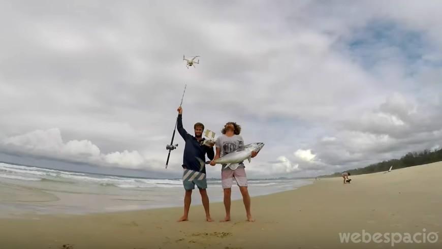 pesca con drones