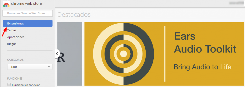 extensiones chrome web store