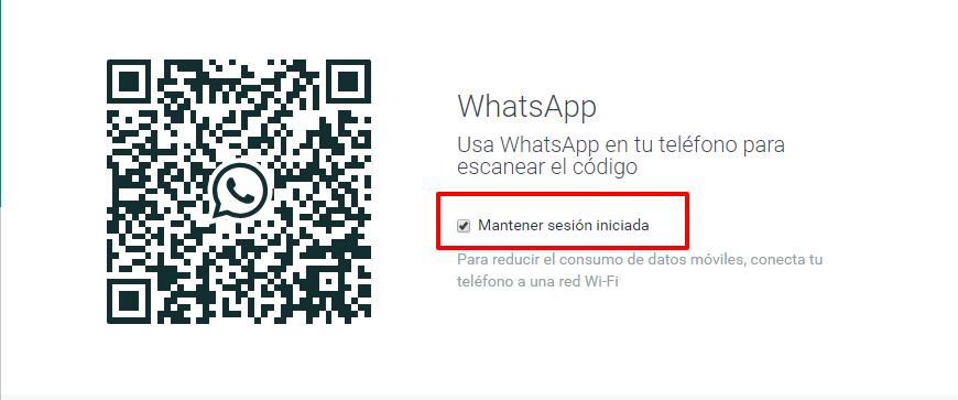 whatsapp mantener sesion iniciada