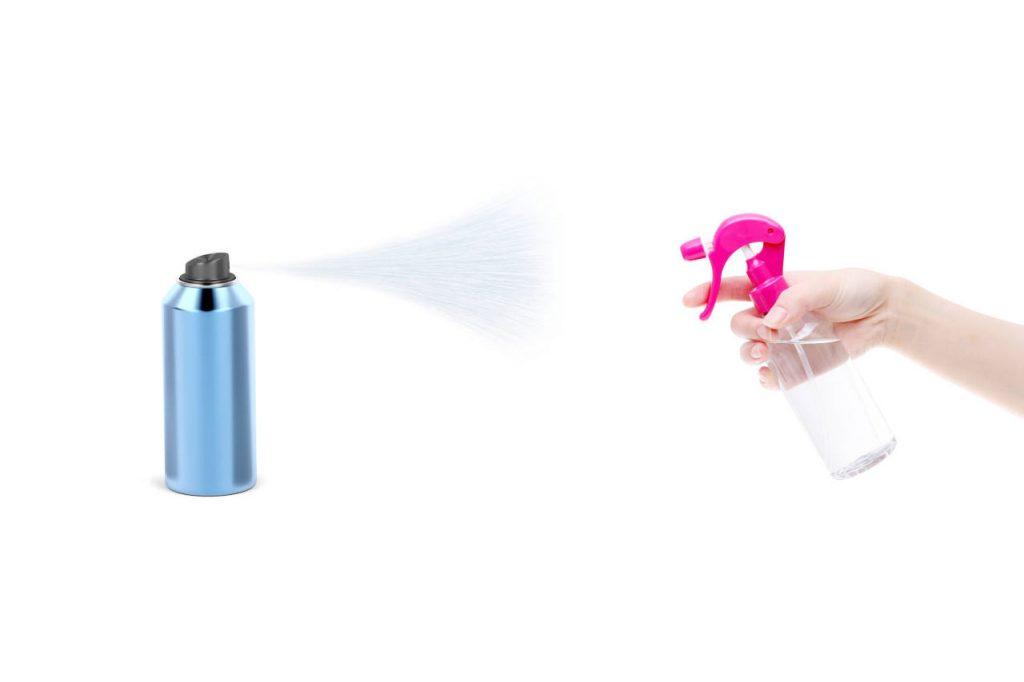 laca o spray para el cabello para quitar esmalte